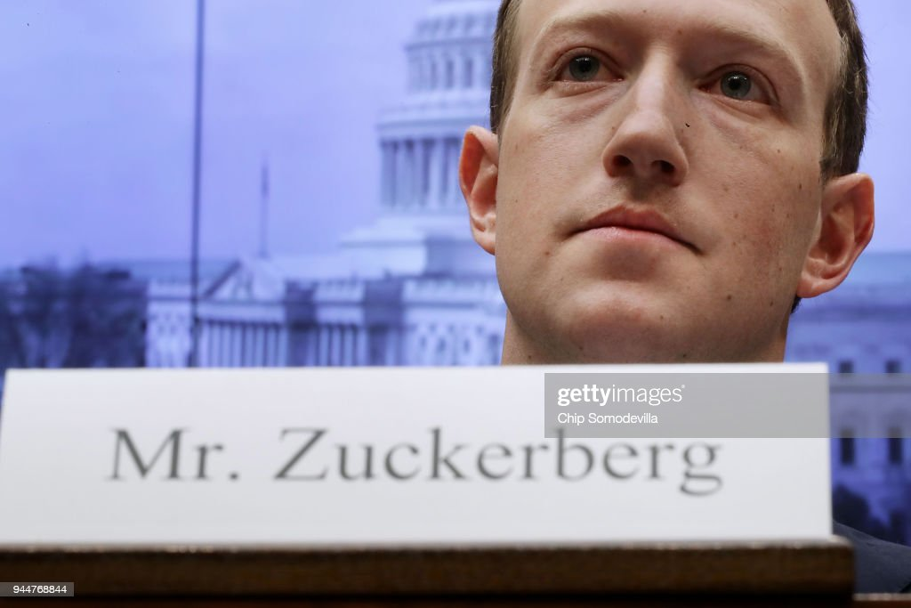 Facebook CEO Mark Zuckerberg Testifies At House Hearing : News Photo