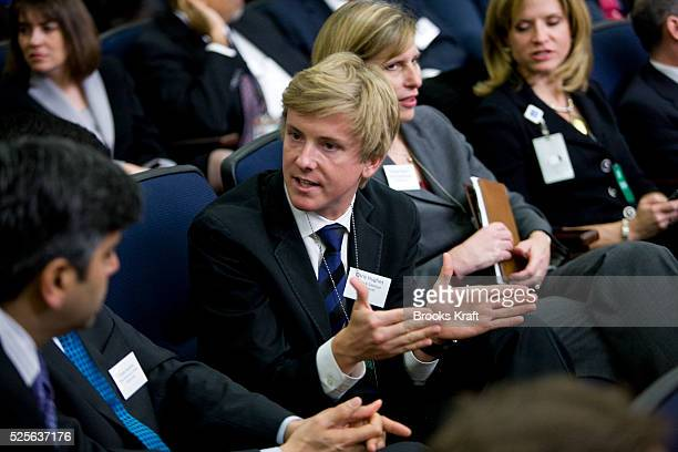 Facebook cofounder Chris Hughes during a CEO's Forum on Modernizing Government at the White House in Washington DC where President Obama spoke He was...