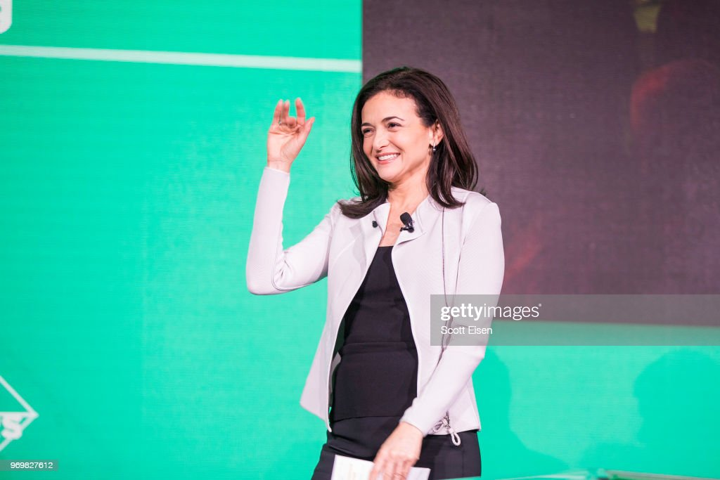 Facebook's Sheryl Sandberg Addresses The U.S. Conference Of Mayors In Boston : News Photo