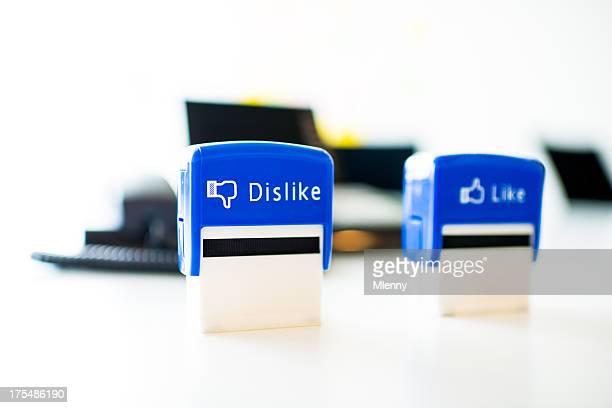 Facebook Abneigung wie Office Stamper