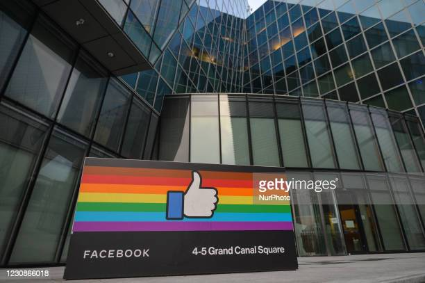 Facebook EMEA headquarters on Grand Canal Square in Dublin Docklands. On Friday, 29 January in Dublin, Ireland.