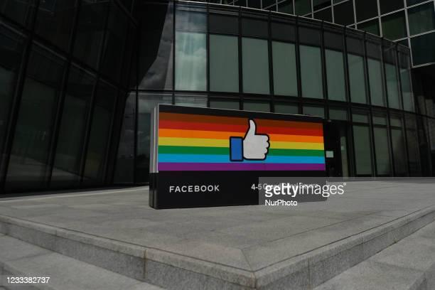 Facebook EMEA headquarters on Grand Canal Square in Dublin Docklands. On Thursday, 10 June 2021, in Dublin, Ireland.