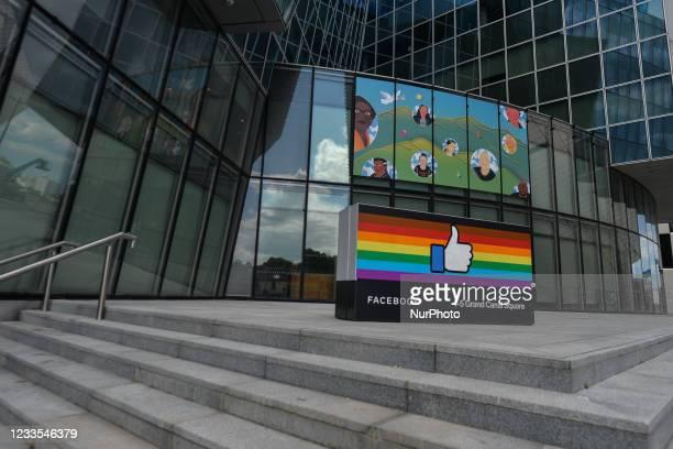 Facebook EMEA headquarters on Grand Canal Square in Dublin Docklands. On Thursday, 17 June 2021, in Dublin, Ireland.