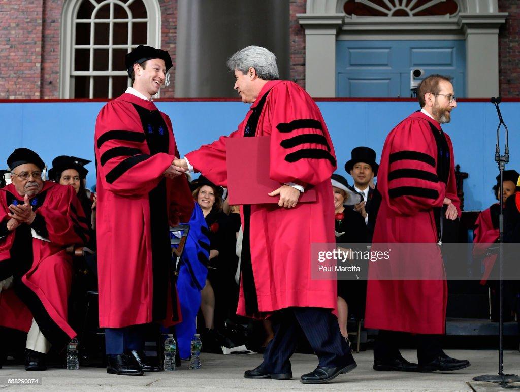 2017 Harvard University Commencement : News Photo
