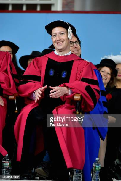 Facebook Founder and CEO Mark Zuckerberg received an Honorary Doctor of Laws Degree from Harvard University at its 2017 366th Commencement Exercises...