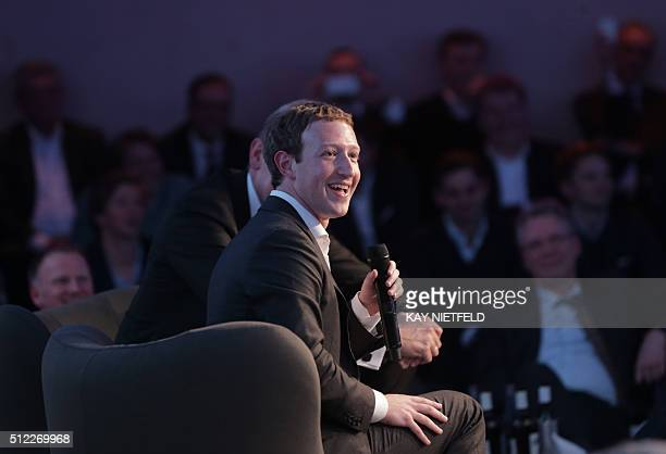 Facebook founder and chief Mark Zuckerberg receives the Axel Springer Award in Berlin on February 25 2016 Facebook announced it was donating computer...