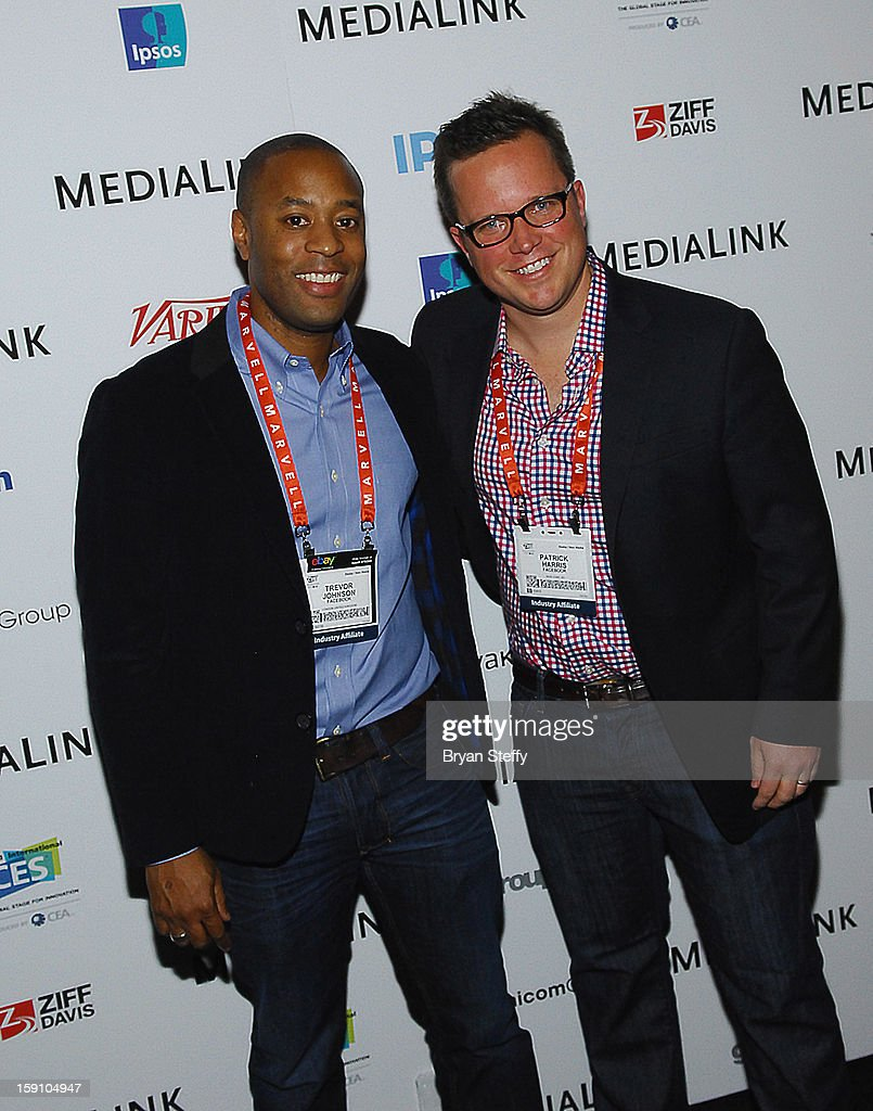 Facebook Global Agency Development Board Trevor Johnson (L) and Facebook Global Agency Development team Patrick Harris at the MediaLink CES Kickoff event at the Tryst nightclub at Wynn Las Vegas on January 7, 2013 in Las Vegas, Nevada.