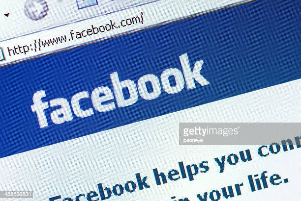 facebook homepage - facebook logo stock pictures, royalty-free photos & images