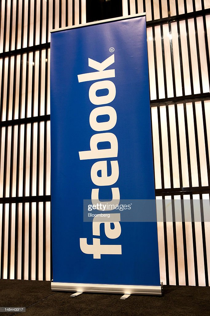 A Facebook Inc. logo stands on display during a news conference at the Armani Hotel to announce the opening of a Facebook office in Dubai, United Arab Emirates, on Wednesday, May 30, 2012. Facebook Inc, which raised $16 billion this month in the biggest initial share sale for a technology company in history, today started a sales office in Dubai to serve the Middle East and North Africa. Photographer: Duncan Chard/Bloomberg via Getty Images