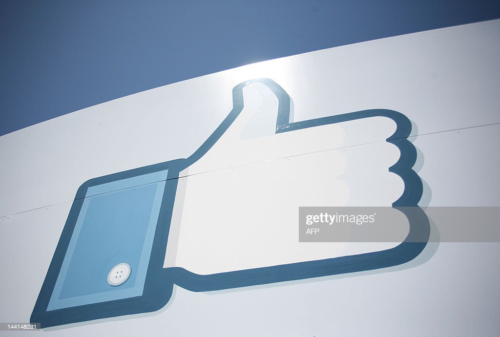 A Facebook Like Button logo is seen at t : News Photo