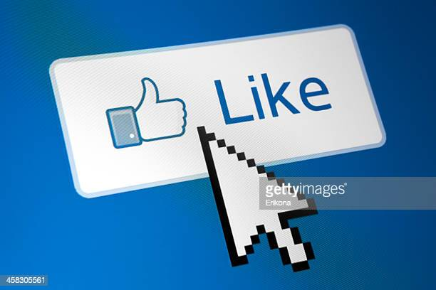 facebook like button - like button stock photos and pictures