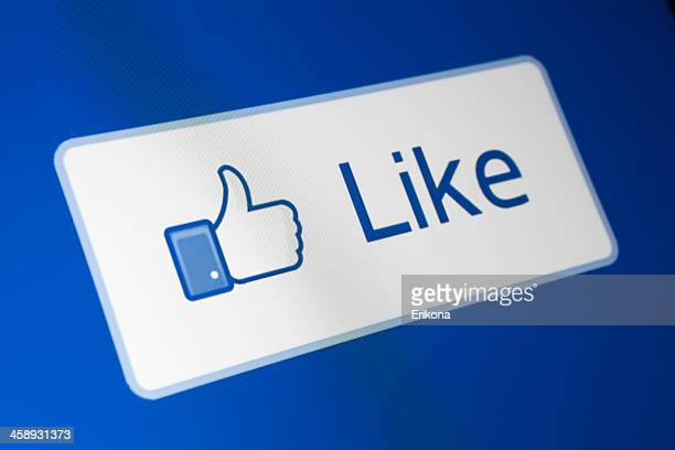 facebook like button - like button stock pictures, royalty-free photos & images
