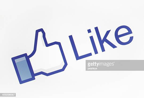 facebook like icon - like button stock photos and pictures