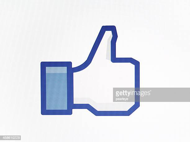 facebook like - like button stock pictures, royalty-free photos & images