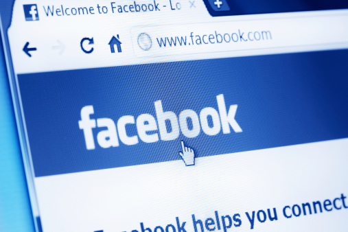 Facebook main webpage on the browser 458657417