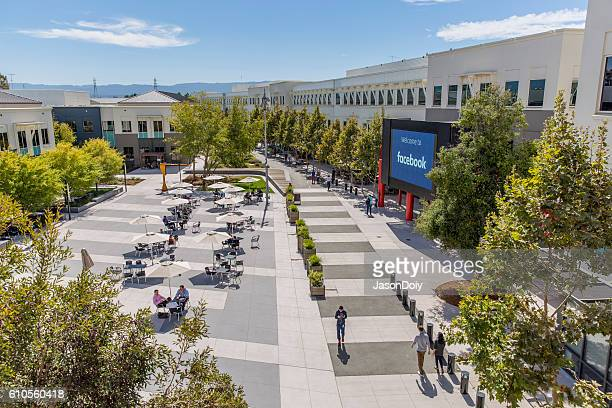 facebook menlo park campus headquarters - headquarters stock pictures, royalty-free photos & images