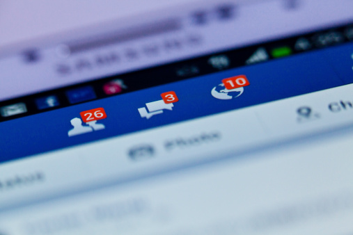 Facebook notifications - gettyimageskorea