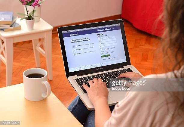 Facebook on MacBook Pro laptop computer