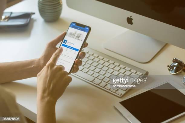 Facebook-Profil auf dem Apple iPhone X