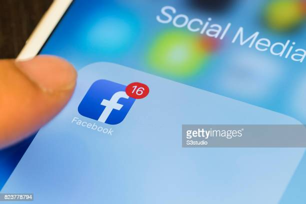 Facebook the world's largest social networking site is seen displayed on a phone on 30 June 2017 in Hong Kong Hong Kong