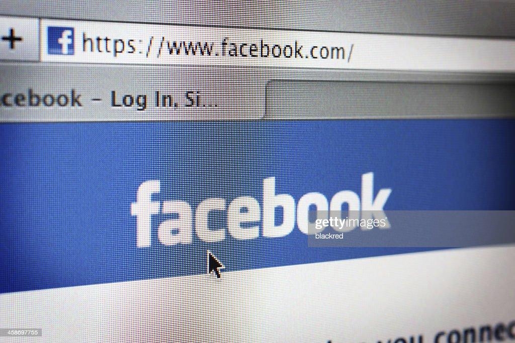 Facebook Website : Stock Photo