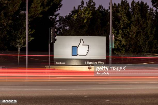facebook-1 hacker way - base stock pictures, royalty-free photos & images