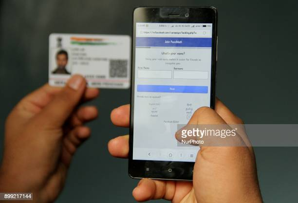 Facebook's mobile site is testing the 'name as per Aadhaar' prompt when users create a new account