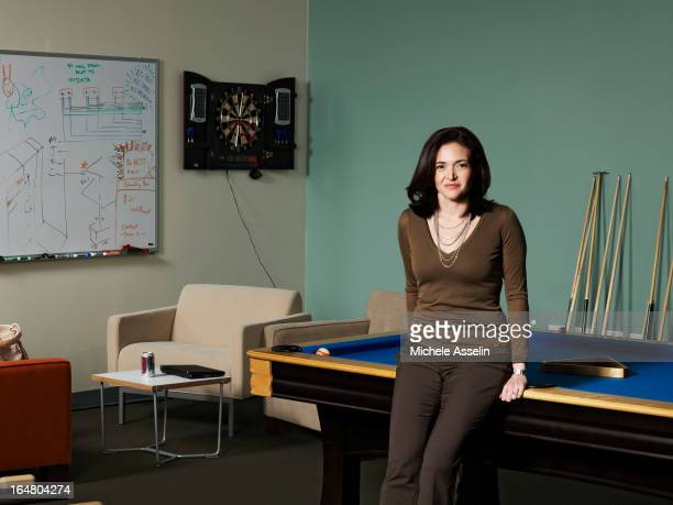 Facebook's vicepresident for global online sales and operations Sheryl Sandberg is photographed for The New Yorker on June 3 2011 in Palo Alto...