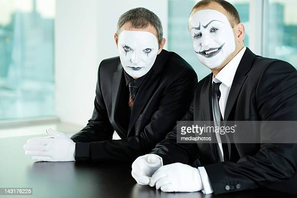 faceless partners - mime stock photos and pictures