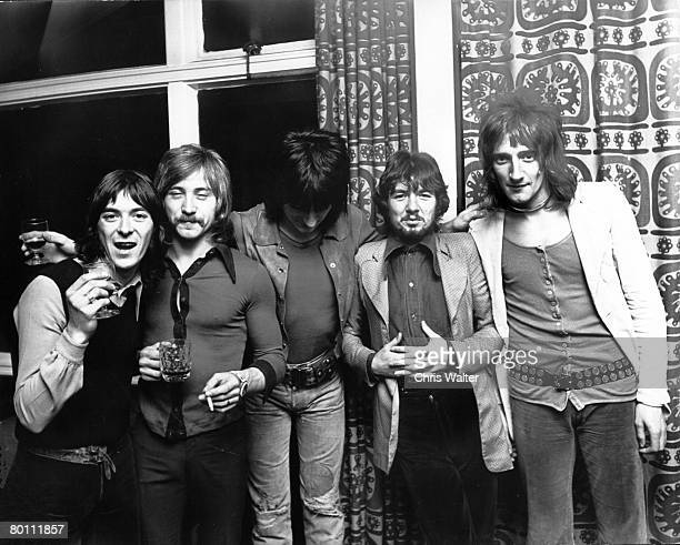 Faces 1971 Ian McClagan Kenny Jones Ron Wood Ronnie Lane and Rod Stewart