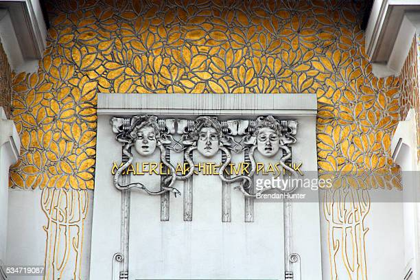 faces and gold - art nouveau stock pictures, royalty-free photos & images