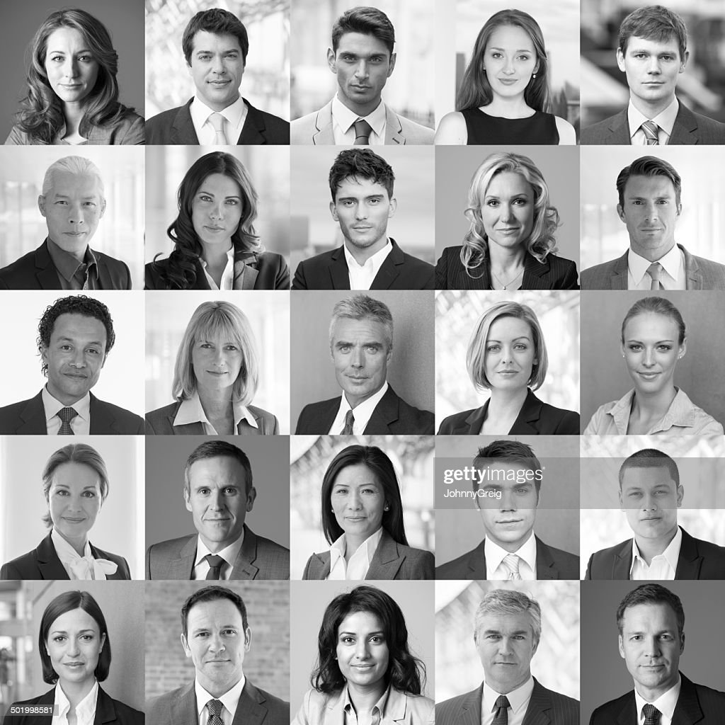 Rostos de Negócios : Foto de stock