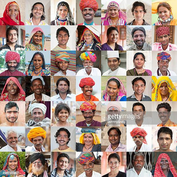 faces of india - image montage stock pictures, royalty-free photos & images