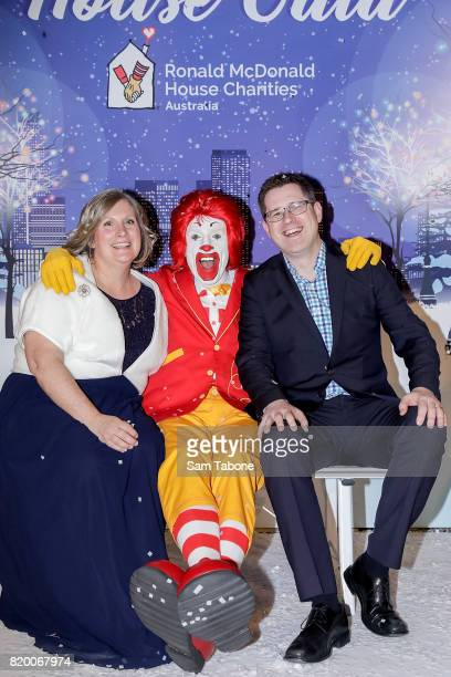 Faces of McHappy day Serena and David Arnold arrives ahead of the Victorian RMHC Ball at Crown Palladium on July 21 2017 in Melbourne Australia