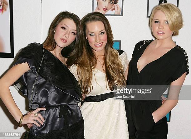 Faces of the Collection Kiersten BradaPitts and Kayslee Collins with Lauren Elaine arrive at La Maison de Fashion for the Lauren Elaine Black Label...