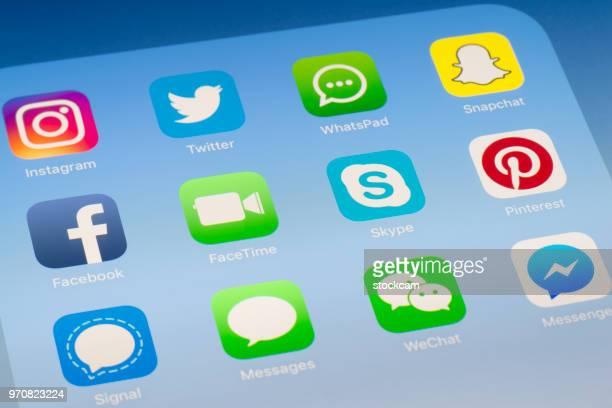 FaceTime, Skype et autres applications de médias sociaux sur l'écran de l'iPad