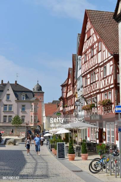 Fachwerkhaeuser Hauptstrasse Ochsenfurt Bayern Deutschland