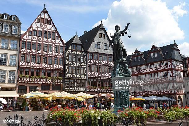 Fachwerkhaeuser, Roemerberg, Altstadt, Frankfurt am Main, Hessen, Deutschland / Römerberg, Fachwerkhäuser