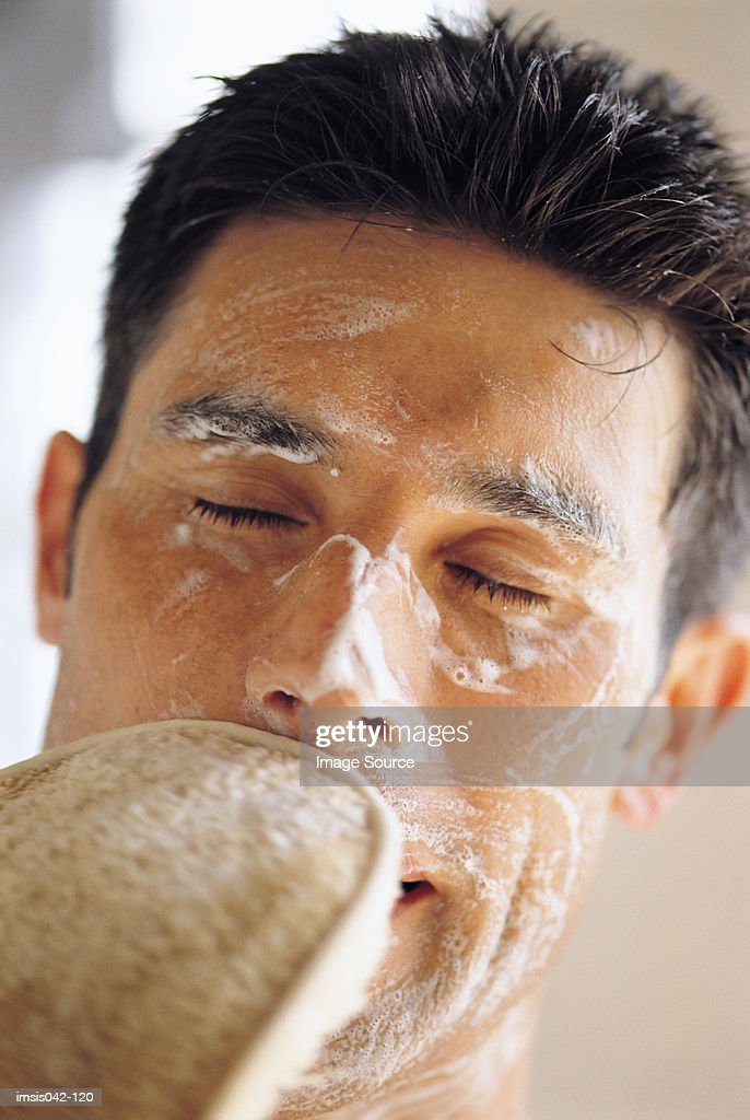 Facial cleansing : Stock Photo
