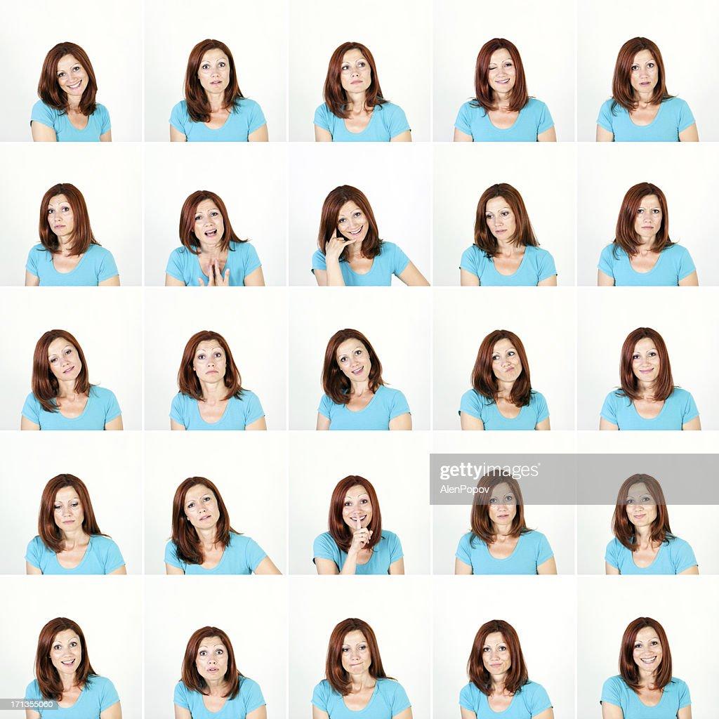 Gesichtsausdruck von Frauen : Stock-Foto