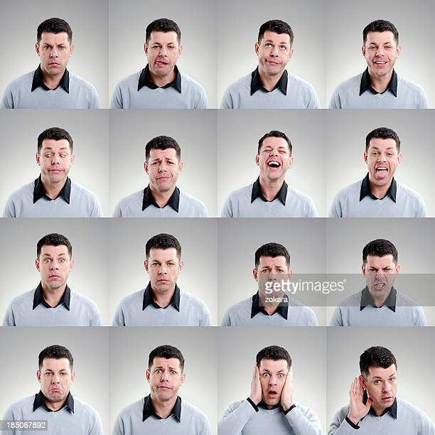 facial expression - multiple image stock pictures, royalty-free photos & images