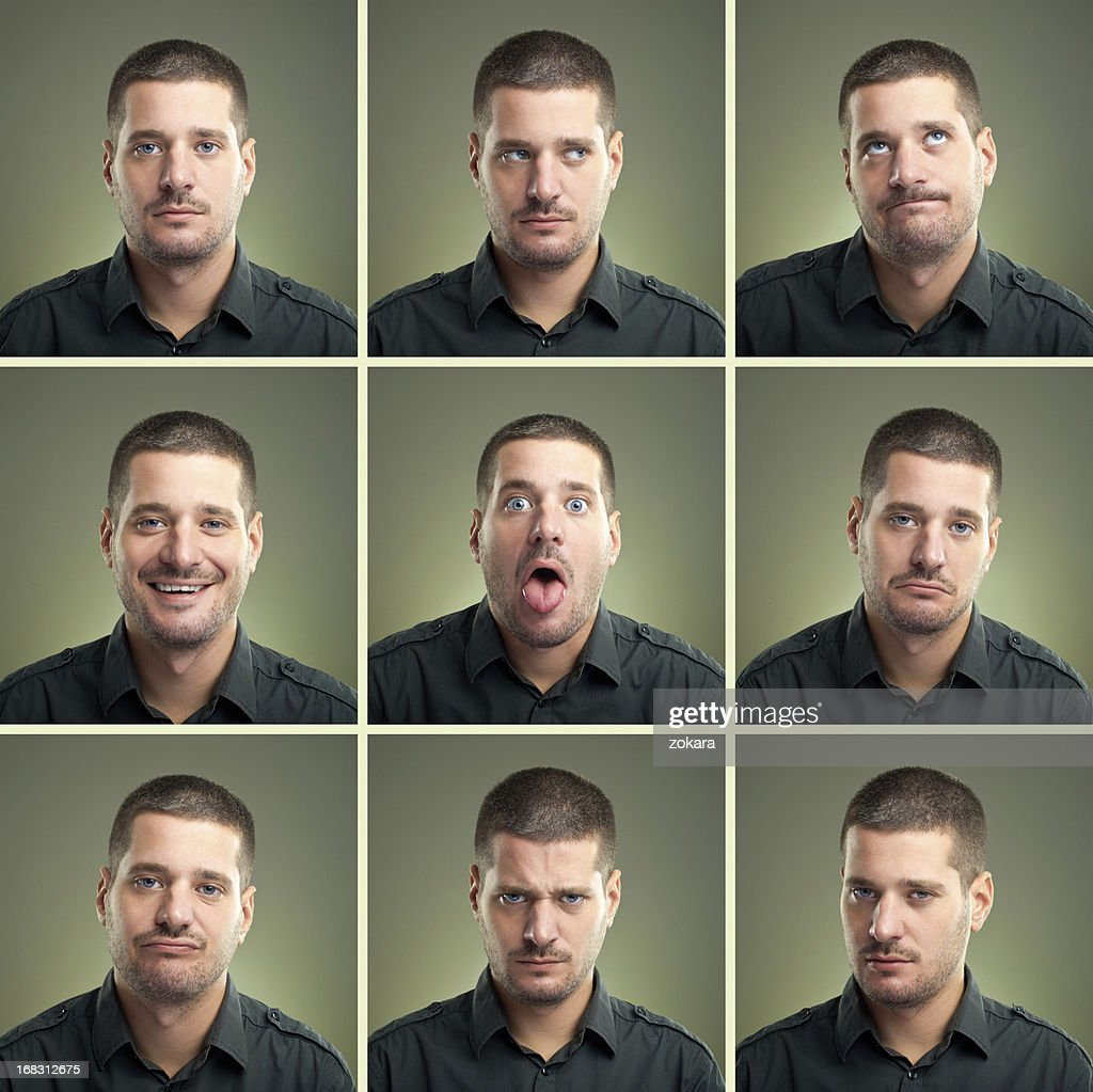 Facial expressions : Stock Photo