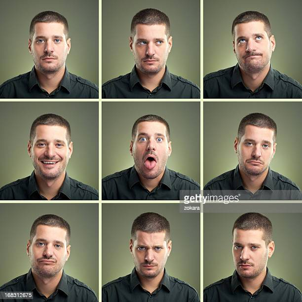 facial expressions - multiple image stock pictures, royalty-free photos & images