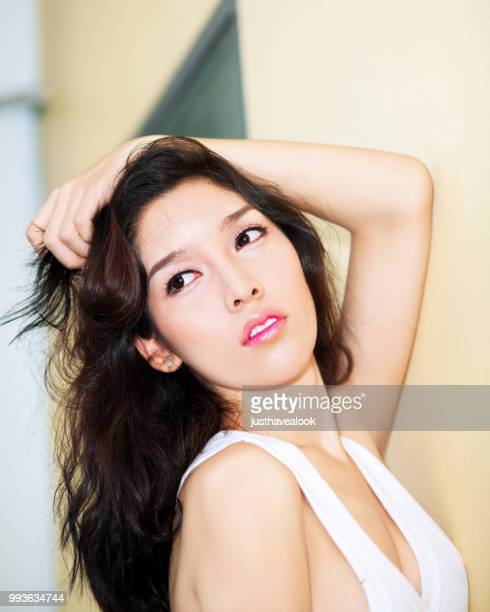facial fashion portrait of thai transgender - ladyboys stock pictures, royalty-free photos & images