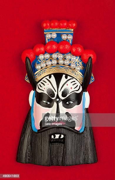 facial makeup - chinese opera stock photos and pictures