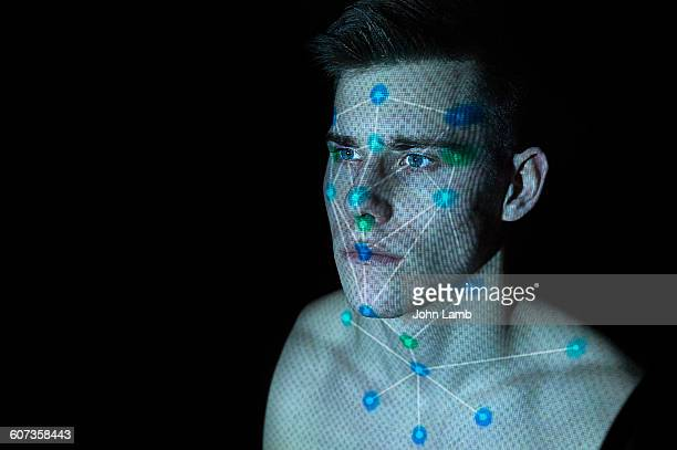 facial recognition - biometrics stock photos and pictures