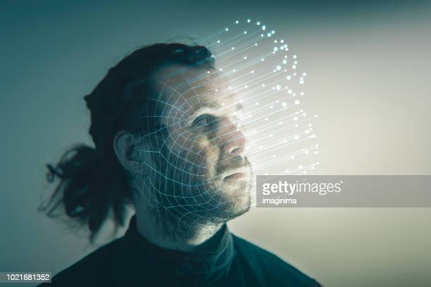 facial recognition technology - fake stock pictures, royalty-free photos & images