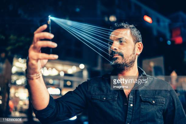 facial recognition technology - identity stock pictures, royalty-free photos & images