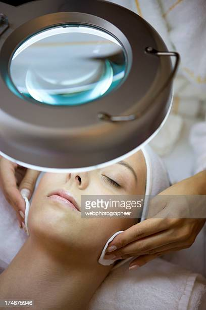 facial treatment - beauty care occupation stock photos and pictures