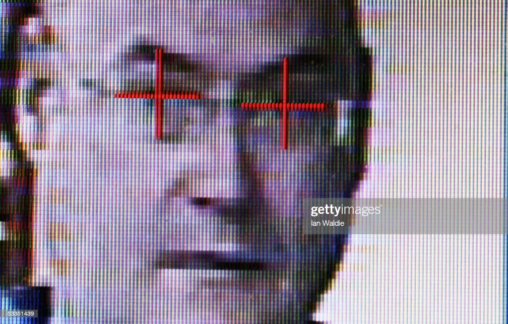 Facial-recognition technology is operated at Argus Soloutions August 11, 2005 in Sydney, Australia. The Australian Federal Government are considering including biometric data such as fingerprints, iris scans, or facial recognition on a national identity card in a bid to combat fraud, illegal immigration and terrorism. Details of individuals' biometrics would be stored on the card in an algorithmic code to prevent identity theft.